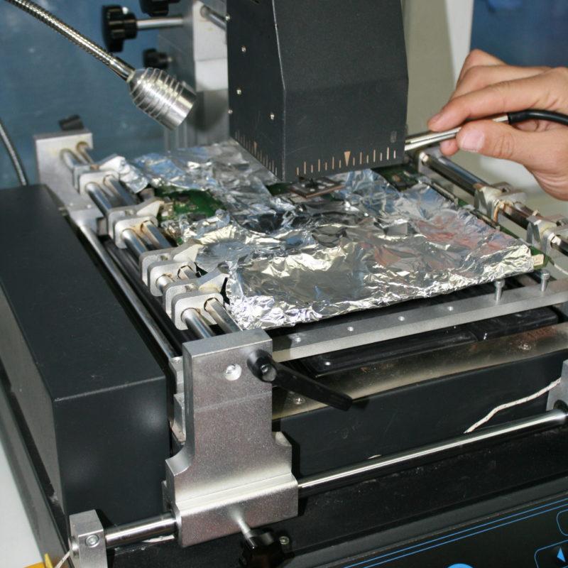Снятие процессора паяльной станцией